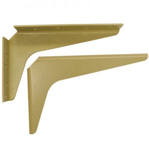 "A & M Hardware 18"" x 18"" Support Bracket Almond"
