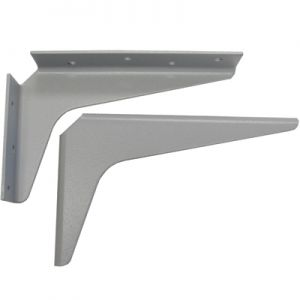 "A & M Hardware 18"" x 18"" Support Bracket Gray"