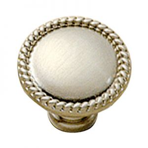 """Belwith P403-15 1-1/2"""" Knob Solid Brass/Pewter"""