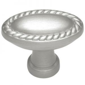Belwith P404-15 1-3/8in Oval Oval Knob Solid Brass/Pewter