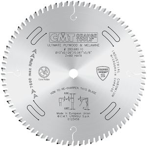 CMT Ultimate Plywood Melamine Blade 10in Dia