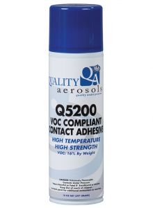 Quality Aerosols Q-5200 VOC Compliant Contact Adhesive 14oz