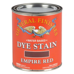 General Finishes Water Based Dye Stain Empire Red