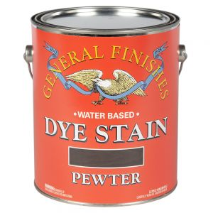 General Finishes Water Based Dye Stain Pewter Gallon