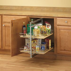 KV Pantry C Mount Frosted Nickel Rollout Frames