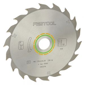 Festool Saw Blade 8.25in 18T 2.6K ATB 30B