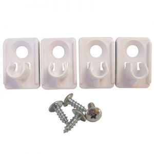 KV Wine Rack Clip White 4/Pack With Screws