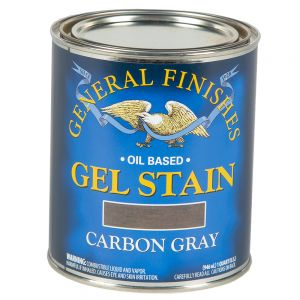 General Finishes Carbon Gray Gel Stain Quart