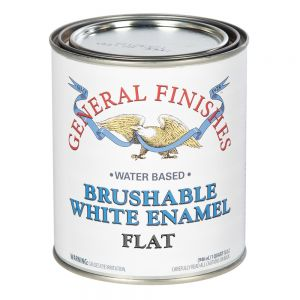 General Finishes Enamel Brushable Quart GFEF.F.Q Flat White