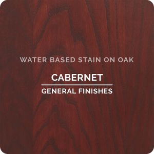 General Finishes Water Base Stain CABERNET 1 Quart