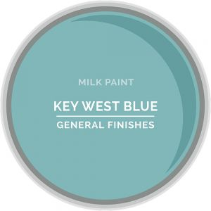 General Finishes Milk Paint KEY WEST BLUE Quart