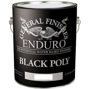 General Finishes Water Based Black Poly Satin Gallon