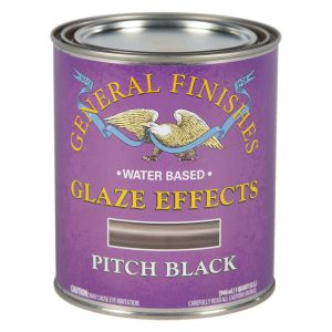 General Finishes Water Based Glaze Effects Pitch Black