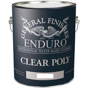 General Finishes Water Based Clear Poly Flat 5 Gallon