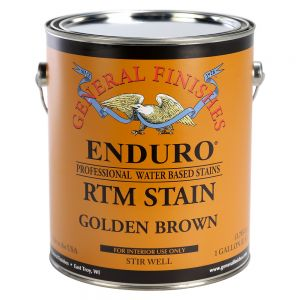 General Finishes Water Based RTM Stain Golden Brown Gallon
