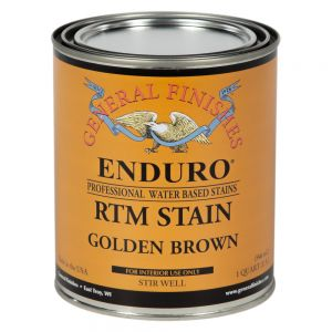 General Finishes Water Based RTM Stain Golden Brown Quart