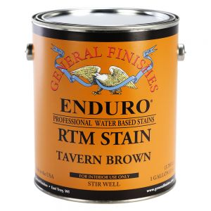 General Finishes Water Based RTM Stain Tavern Brown Gallon