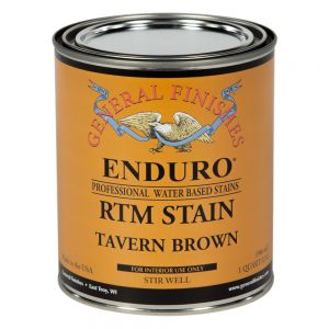 General Finishes Water Based RTM Stain Tavern Brown Quart