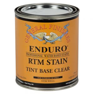 General Finishes Water Based RTM Stain Tint Base Clear Quart