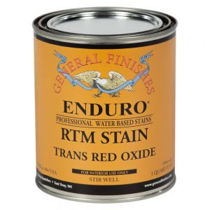 General Finishes Water Based RTM Stain Trans Red Oxide Quart