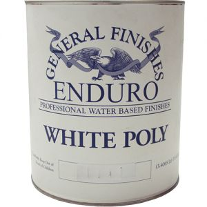 General Finishes GFWS.5 White Poly Satin 5 gal Pail