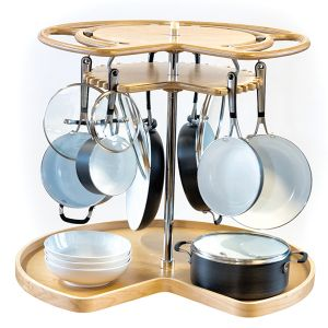 Glideware Not-So-Lazy Susan Pot & Pan Organizer