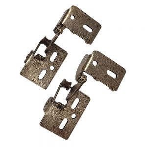 "Youngdale 1/2"" Overlay Low Profile Antique Brass Hinge"