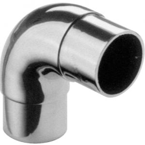 "Lavi 1-1/2"" Satin Stainless Steel 90° Flush Elbow"