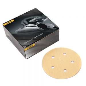 "Mirka Gold 5"" with 5 Hole PSA Discs 220 Grit"