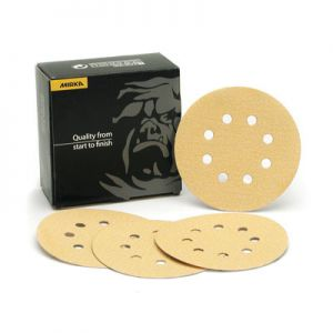"""Mirka Gold 5"""" with 8 Hole Grip Discs"""