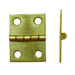 "National Hardware Solid Brass 3/4"" X 1"" Miniature Hinge"