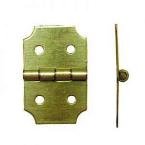 "National Hardware Solid Brass 5/8"" X 1"" Miniature Hinge"