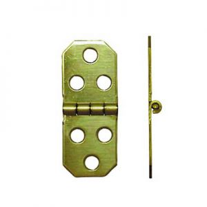 "National Hardware Solid Brass 3/4"" X 1-7/8"" Miniature Hinge"