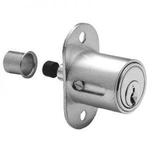 Olympus Plunger Lock Keyed Different Satin Chrome