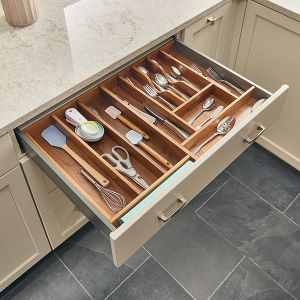 Rev-A-Shelf Walnut Cutlery Tray
