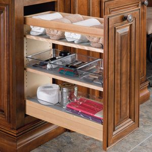 Rev-A-Shelf 448-VC Vanity Base Pullout Organizer with Soft Close
