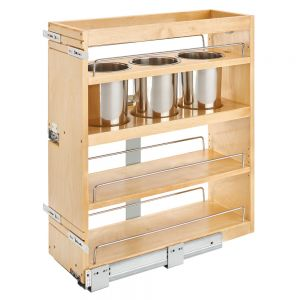 Rev-A-Shelf 449UT Pull Out Kitchen Organizers with Stainless Steel Bins