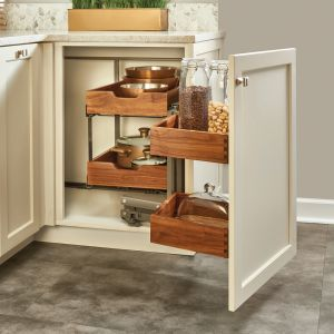 Rev-A-Shelf Blind Corner 2-Tier Walnut 33-3/16W Right Blind Corner