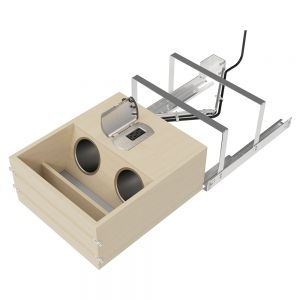 Rev-A-Shelf Vanity Drawer with Power Outlets