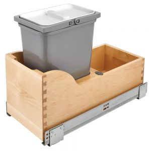 Rev-A-Shelf Maple Bottom Mount Waste Container Pullout w/Soft Close