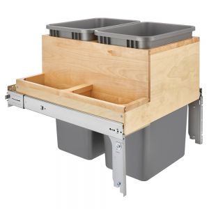 Rev-A-Shelf 4WCTM+24-2450BBSCDM-2 Top Mount Maple Waste Container