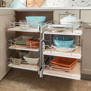 Rev A Shelf Blind Corner f/15in Open 3 Tier CHR/MA