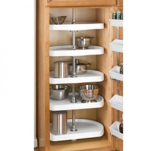 "Rev-A-Shelf Premiere D-Shaped 5 Shelf Set 22"" White"