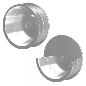 Rev-A-Shelf SideLines 1-1/2 Round Closet Rod Flanges Chrome