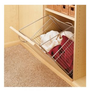 "Rev-A-Shelf Tilt Out Hamper Satin Nickel 16 5/8""W"
