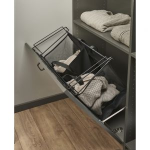 Rev-A-Shelf CTOHSL-30 Tilt Out Hamper 30W x14D Black Cloth