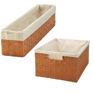 Rev-A-Shelf Stand Alone Woven Basket with Canvas Liner