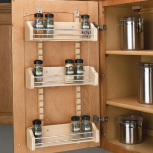 Rev-A-Shelf Door Mount Adjustable Wood Spice Rack