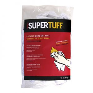 SuperTuff 25 Pound Box White Knit Rags
