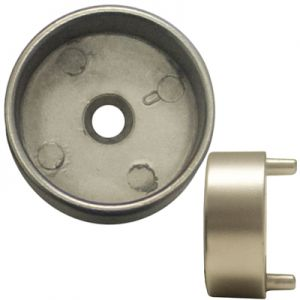 """US Futaba Closed Rod Support for 1-5/16"""" dia Rod w/Pins Dull Nickel"""